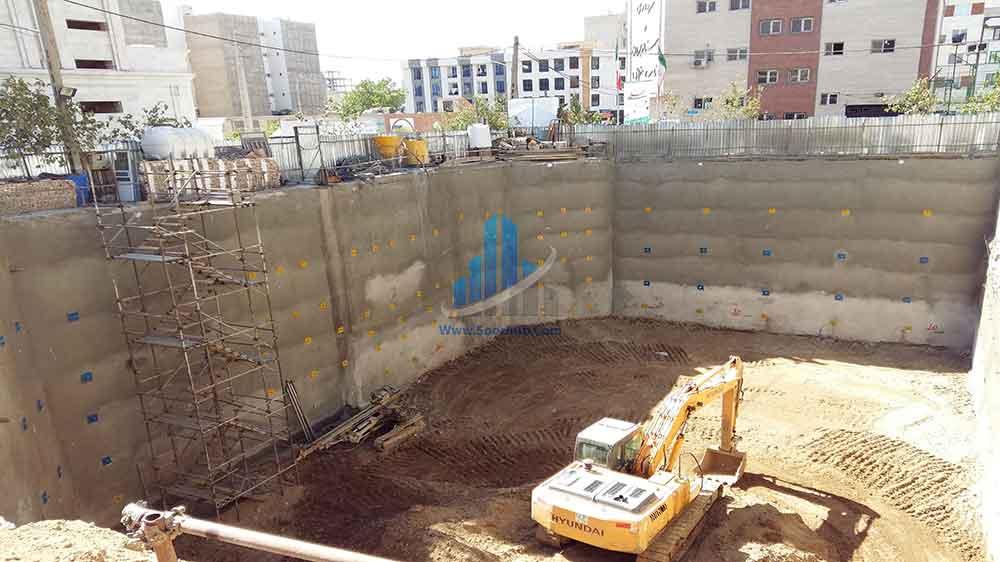 عملیات گودبرداری، تثبیت و پایدارسازی دیواره¬های گود به روش نیلینگ و انکراژ