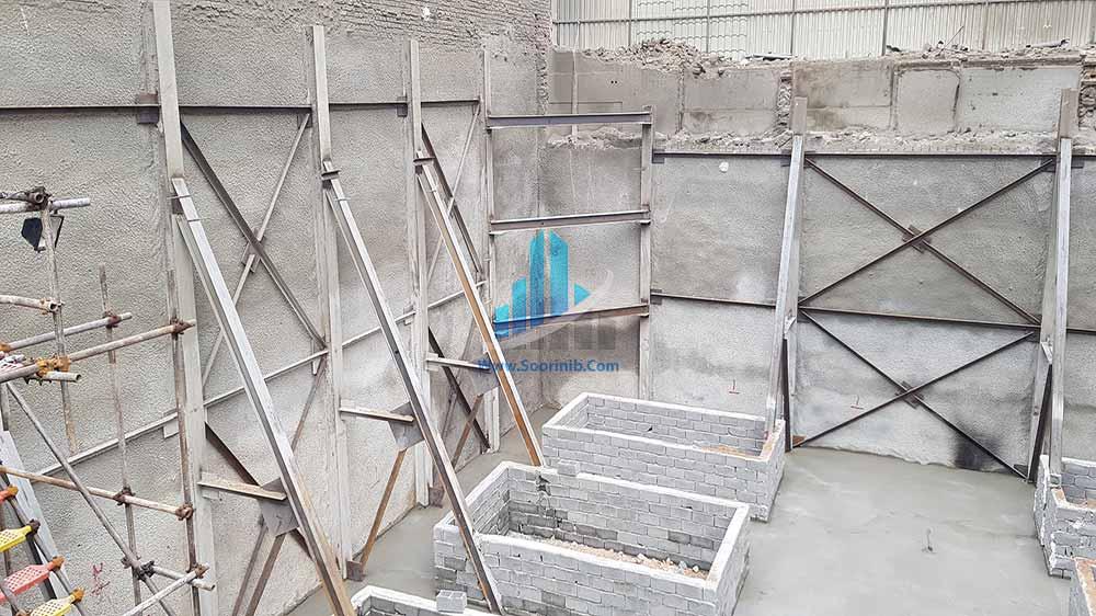 عملیات گودبرداری، تثبیت و پایدارسازی دیوارههای گود به روش سازه نگهبان خرپا