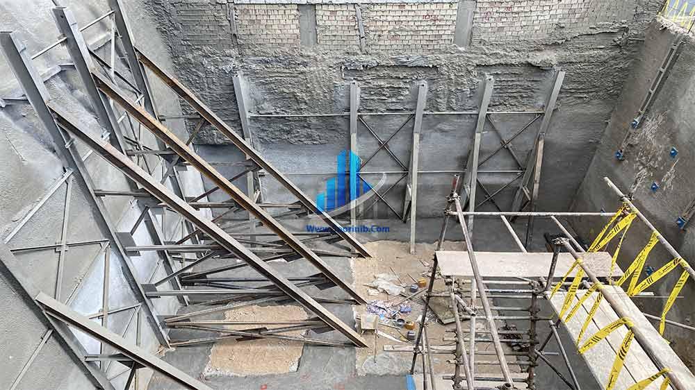 عملیات تثبیت و پایدارسازی دیواره¬های گود به روش اجرای سازه نگهبان خرپا و انکراژ