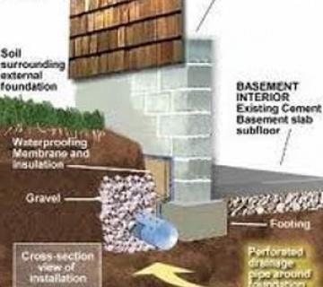 زهکشی و آببندی دیواره گود