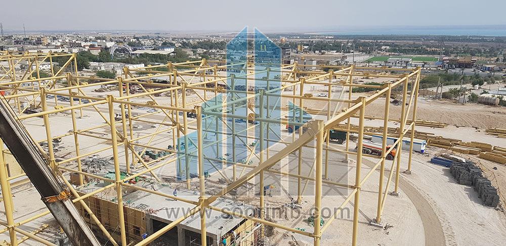 نصب 5400 تن اسکلت فلزی