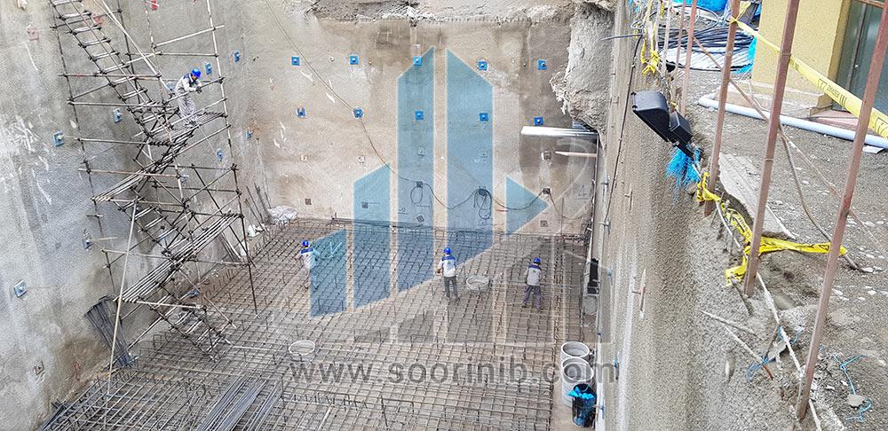 عملیات گودبرداری، تثبیت و پایدارسازی دیواره های گود
