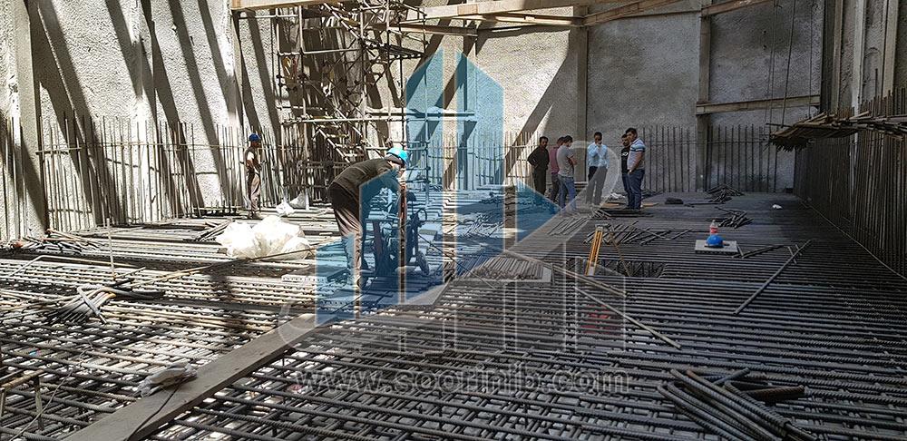 اجرای فونداسیون، دیوارهای حایل و اجرای سقف عرشه فولادی