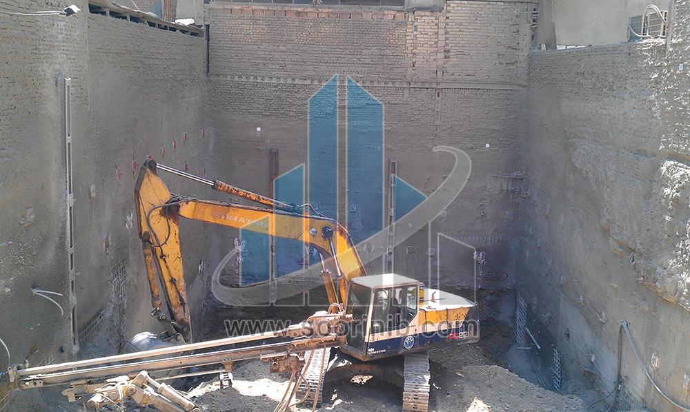 عملیات تثبیت و پایدارسازی دیواره های گود به روش نیلینگ و شمع فولادی