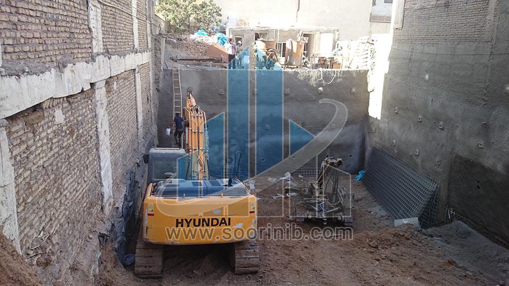 عملیات تثبیت و پایدارسازی دیواره های گود به روش اجرای نیلینگ