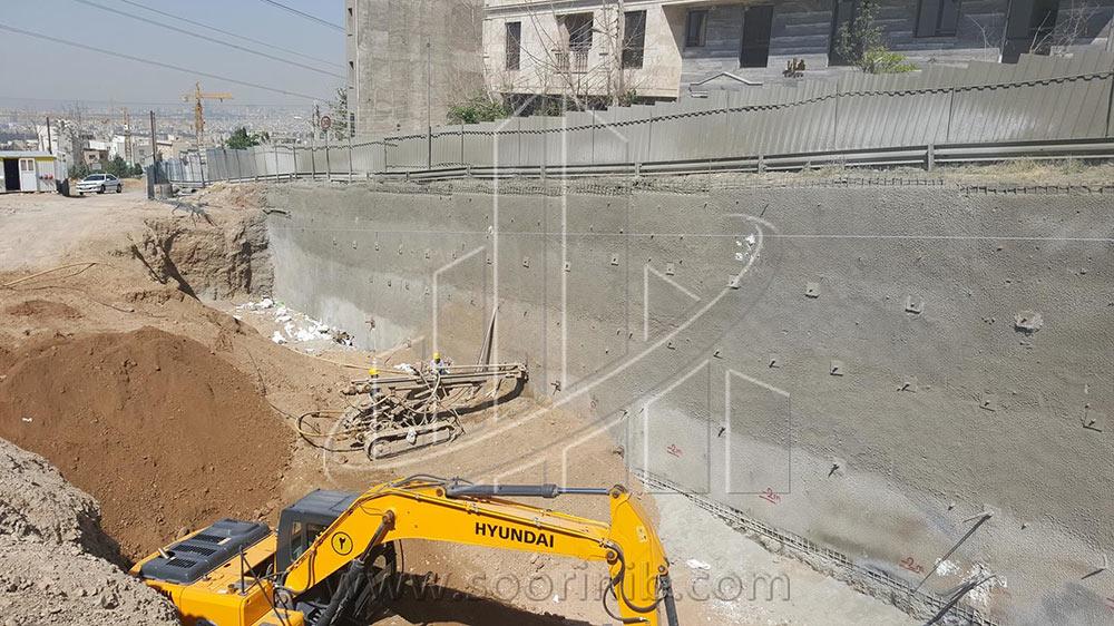 عملیات تثبیت و پایدارسازی  دیوارههای گود به روش نیلینگ