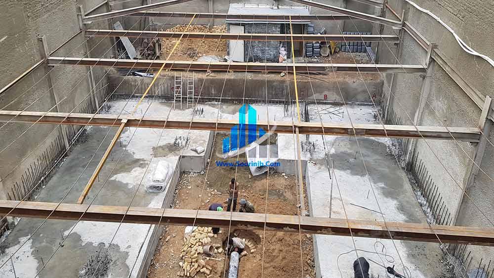عملیات گودبرداری، تثبیت و پایدارسازی دیوارههای گود به روش مهار متقابل